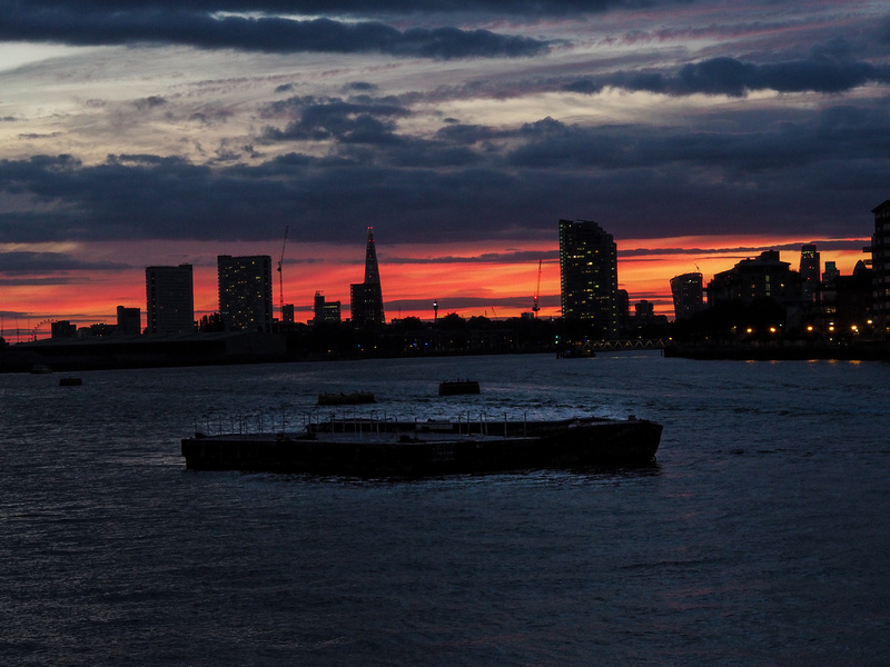 Sunset, West from Greenwich